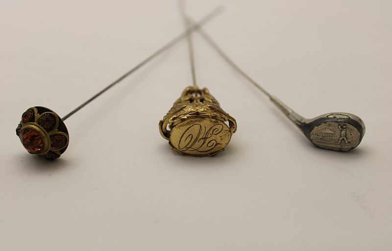 A photograph of hatpins